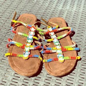 New Blowfish tribal beaded sandals ❤️💜💙💚